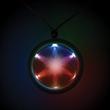 "2 1/4"" Light Up LED Fusion Badge Necklace - Multi-colored 2 1/4"" light up LED badge with necklace."