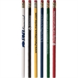 Foreman Pencil - Wood number 2 pencil in solid colors and has a gold ferrule and pink eraser