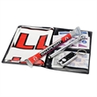 Glove Compartment Auto Kit - Glove compartment kit in folding vinyl case with key light, distress flag and more.