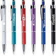 Aruba Pen (Pat #D670,761) - This Pen is a Click-Action light weight & high tech Styled pen with Island inspired colors with a textured grip and sliver accents