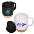 14 oz. Ceramic Mug with Cork Base - 14 oz. (443 mL) ceramic stoneware mug with removable natural cork base.