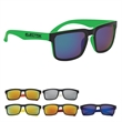 Crescent Mirrored Sunglasses - Polycarbonate sunglasses with mirrored, UV400 lenses that provide 100% UVA and UVB protection,