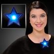 Imprinted LED blinking blue star clips