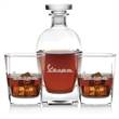 3 Piece Rossini DOF Set - Rossini three-piece Old Fashioned set with 23.75-ounce decanter and pair of 13-ounce glasses in presentation gift and storage box.