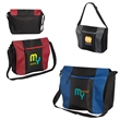 Porter Messenger Bag - Polyester messenger bag with color mesh accent panels.