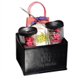 Avalon Cups, Hot Cocoa and Pretzels Gift Set - Gift set of two 14 oz. tumblers, hot cocoa mix with a mini whisk, and two bags of chocolate covered pretzels in a folding bin.