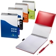 Two-Tone Jotter with MopTopper™ Stylus Pen - Jotter with stylus pen.