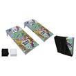 "CUSTOM Aluminum Cornhole Boards Official Size (48"" x 24"") - CUSTOM Official Size, Folding, Portable, Lightweight Cornhole Bag Toss Game Set"