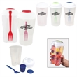 Salad to Go / Salad Shaker - Food storage container with mini compartment for condiments, fork included