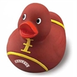 Football Rubber Duck - Rubber duck with football colors and stitching.