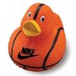 Basketball Rubber Duck - Rubber duck with the look of a basketball.
