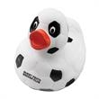 Soccer Ball Rubber Duck - Rubber duck with black and white panels like a soccer ball.