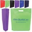 "Die Cut Handle Tradeshow Non-Woven Tote - Nonwoven tote with die cut handle and 2"" gusset"
