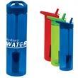 20 oz. MS Plastic filter bottle with flip straw - 20 oz. plastic water bottle with straw