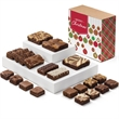 Christmas Medley - Gourmet brownies in 3 sizes and 12 flavors make a perfect food gift for the holidays.