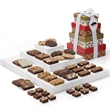 Custom Christmas 4-Box Tower - Custom 4-box Christmas tower with 30 brownies in 3 sizes, 8 cookies, and 3 bars.