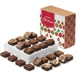 Christmas Morsel 24 - 24 bite-sized brownies individually wrapped in a gift box with a Merry Christmas band.