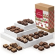 Christmas Morsel 36 - 36 bite-sized brownies are individually wrapped inside a box with a festive Merry Christmas band.