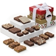 Custom Christmas 2-Box Tower - Spread Christmas cheer with a bounty of gourmet treats inside a lovely tower gift.