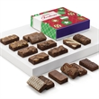 Christmas Sprite 16 - 16 snack-sized brownies are hand packed inside a purple box wrapped with a Merry Christmas gift band.