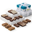 Custom Holiday 2-Box Tower - Brownies in three sizes and blondie bars bring holiday cheer in this custom, delightful tower gift.