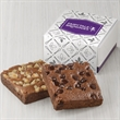 2-Brownie Favor - Chocolate Chip and Walnut Belgian chocolate brownies in a gift favor box