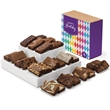 Birthday Sprite 24 - Snack-size brownies, 2 each of 12 flavors in a gift box with Birthday band.