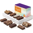 Congratulations Sprite Dozen - Express your best wishes with all 12 enchanting flavors of snack-size brownies in a purple box with congratulations band..