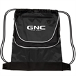 Tournament Drawstring Backpack - 210 denier polyester backpack with two-tone design and drawstring closure.