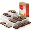 Congratulations Brownies 18 - Eighteen full-size brownies, 12 flavors in a gift box with a Congratulations band.