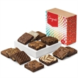Congratulations Dozen - One dozen brownies in a gift box with a colorful congratulations band.