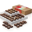 Congratulations Morsel 48 - Four dozen bite-sized brownies in gift box with congratulations gift band.