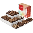 Congratulations Sprite 24 - Two dozen snack-size brownies in gift box with congratulations gift band.