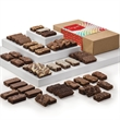 Congratulations Sprite 48 - Four dozen snack-sized brownies in gift box with congratulations gift band.