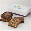 Custom 4-Brownie Favor - Gift favor with 4 full-size brownies and your logo on the lid