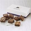 Custom 8-Morsel Favor - Gift favor with 8 bite-sized brownies and your full-color logo on the lid