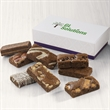 Custom 8-Sprite Favor - Gift favor with 8 snack-size brownies and your full-color logo on the lid.