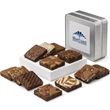 Custom Keepsake Tin Dozen - Custom keepsake tin with sweet brownies combination in 12 flavors.