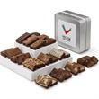 Custom Keepsake Tin Sprite 24 - Custom keepsake tin with 24 snack-sized brownies.