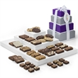 Custom Fairytale 4-Box Tower - 4-box tower filled with brownies, cookies and bars with your full-color logo on the hang tag