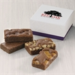 Custom 4-Sprite Favor - Gift favor with 4 snack-size brownies and your full-color logo on the lid of the box.