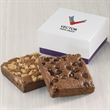 Custom 2-Brownie Favor - Gift favor with 2 full-sized brownies and your logo on the lid.