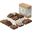 Custom Holiday Dozen - Holiday dozen, one of our most popular gifts, brownies in 12 divine flavors with your logo on the band.