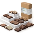Custom Holiday Eighteen - 18 brownies in a holiday gift box with your full-color logo or photo on the band.