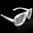 Light-Up Glow LED Slotted Glasses - Light-up LED slotted glasses.