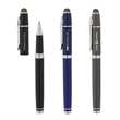 Conductor Rollerball Pen / Stylus - Cap-off rollerball pen with aluminum construction, chrome accents and conductive fiber capacitive stylus.