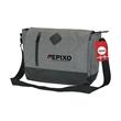 """Madison Messenger Bag & Hangtag - 4.75"""" x 11.5"""" x 15"""" messenger bag with 1 1/2"""" x 50 3/4"""" adjustable strap and customizable full-color printed hangtag."""