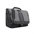 """Solo® Supreme Messenger - 2.5"""" x 12"""" x 15.5"""" messenger bag; includes 15.6"""" laptop pocket and 1 1/4'' x 51 1/2"""" padded adjustable shoulder strap."""