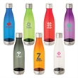 Titan 24 oz. Tritan™ Water Bottle - 24 oz. Tritan bottle; soda bottle design and includes matte silver screw-top lid and matching base.