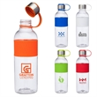 Kai 28 oz. Tritan™ Water Bottle - 28 oz. Tritan bottle; includes stainless steel screw-on lid with lid strap and silicone grip on bottle.